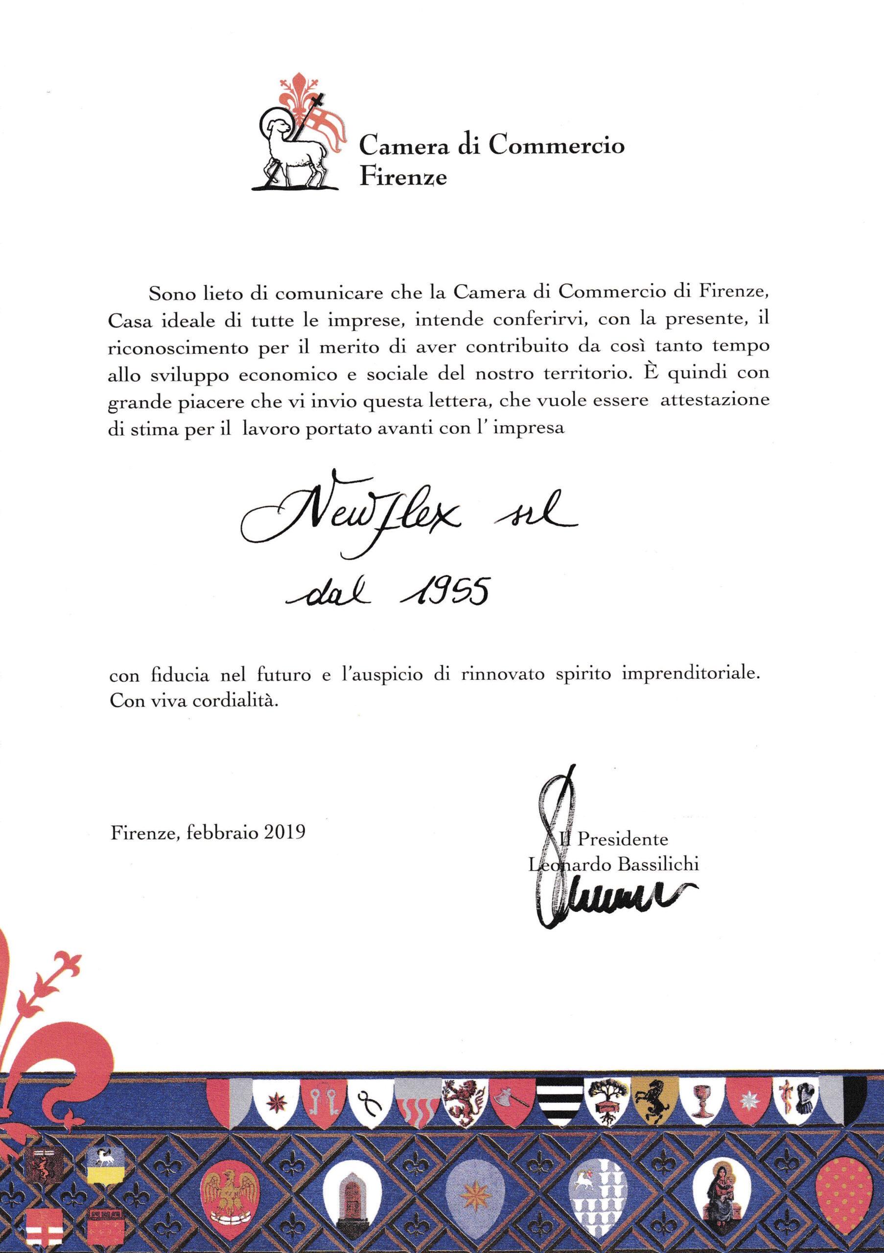 certificato-camera-di-commercio-newflex-dal-1955-tradizione